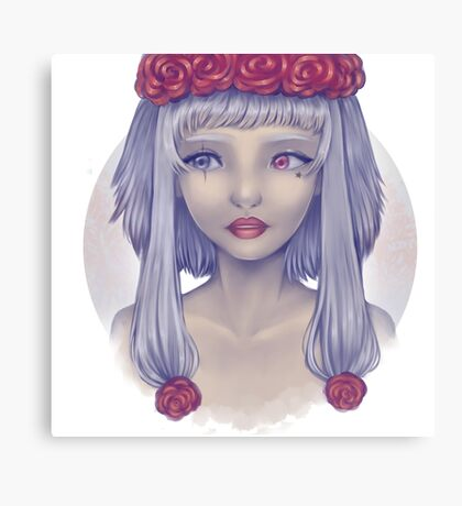 Flower Crown Canvas Print