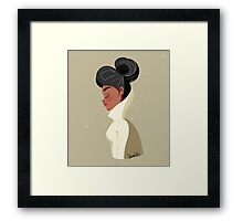 girl palette Framed Print