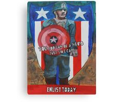 You Too Can Be A Hero Just Like Cap! Canvas Print