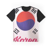 South Korea Vintage travel poster Graphic T-Shirt