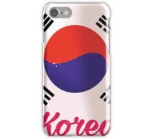 South Korea Vintage travel poster iPhone Case/Skin