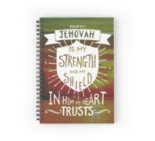 PSALM 28:7 Spiral Notebook