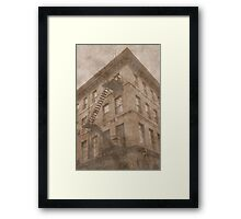 Stairs To The Roof Framed Print