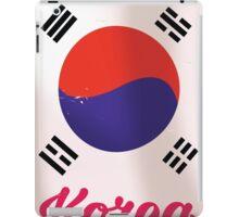 South Korea Vintage travel poster iPad Case/Skin