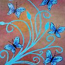 Blue Butterflies by maggie326