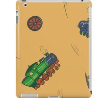 Happy Train pattern - yellow background iPad Case/Skin