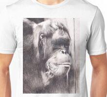 Hand drawn watercolor painting of an orangutan Unisex T-Shirt