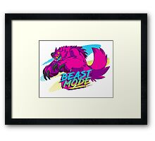 - BEAST MODE -  Framed Print
