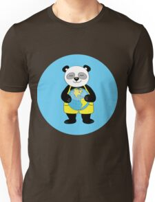 panda kept globe of the planet earth Unisex T-Shirt
