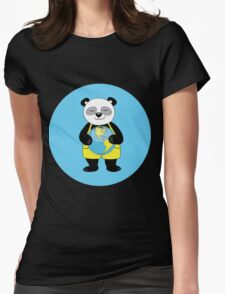 panda kept globe of the planet earth Womens Fitted T-Shirt