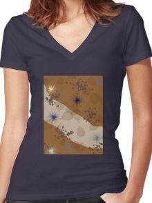 Nice design for autumn 2 Women's Fitted V-Neck T-Shirt