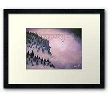 Deception Pass, Washington ~ Oil Painting Framed Print
