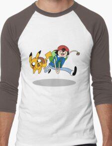 Pokemon Adventure Time Men's Baseball ¾ T-Shirt