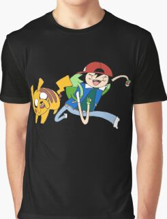 Pokemon Adventure Time Graphic T-Shirt