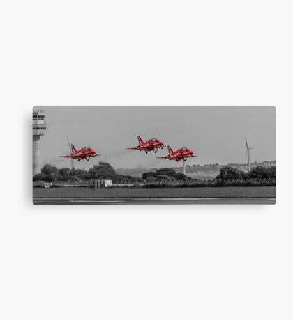 Red Arrows taking off Canvas Print