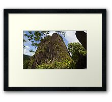Chickenshit Mountain - Pohnpei, Micronesia Framed Print