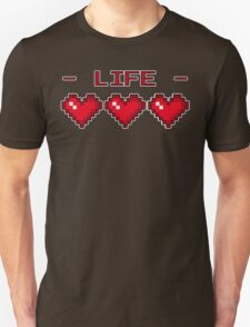 8-Bit Heart Containers (Full) Unisex T-Shirt