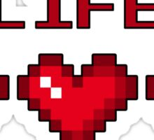 8-Bit Heart Containers (Full) Sticker