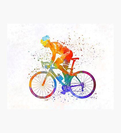 Woman triathlon cycling 01 Photographic Print