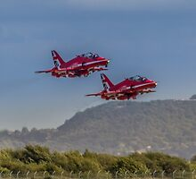 Three Red Arrows of the air by Paul Madden