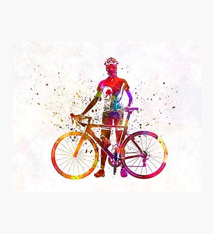 Woman triathlon cycling 02 Photographic Print