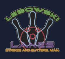 Lebowski Lanes Neon Logo  Kids Tee