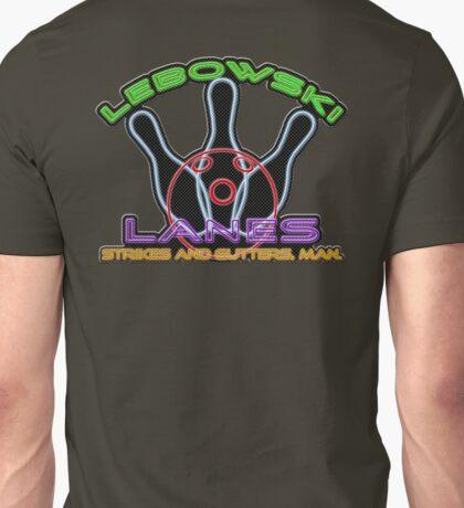 Lebowski Lanes Neon Logo  Unisex T-Shirt