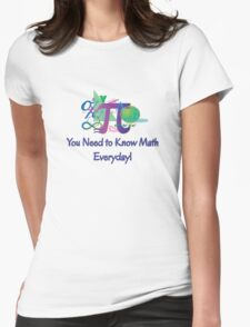 You Need To Know Math Everyday! Womens Fitted T-Shirt