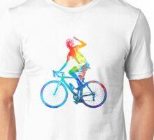Woman triathlon cycling 03 Unisex T-Shirt