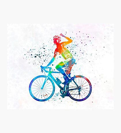 Woman triathlon cycling 03 Photographic Print