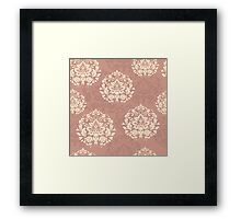 retro seamless floral pattern, vintage background Framed Print