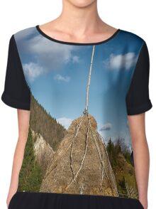 Hay stacks and mountains Chiffon Top