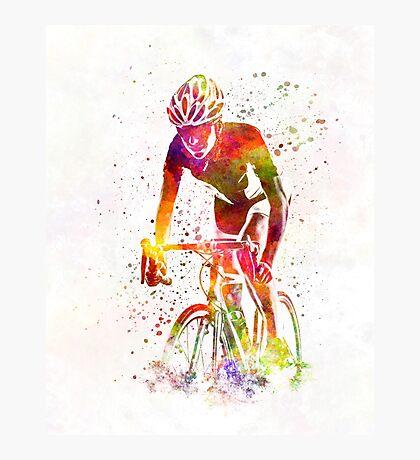 Woman triathlon cycling 04 Photographic Print