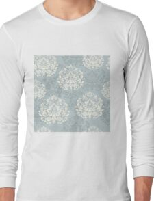 retro seamless floral pattern, vintage background Long Sleeve T-Shirt