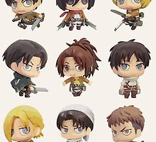 Attack On Titan: Chibi Characters by Jelly Gem