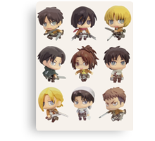 Attack On Titan: Chibi Characters Canvas Print