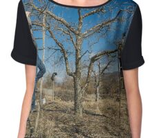 Pruning apple trees Chiffon Top