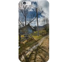 Rural road in the mountains iPhone Case/Skin