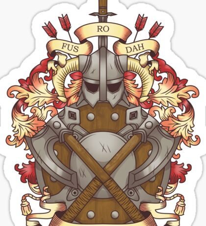 Dovah-crest Sticker