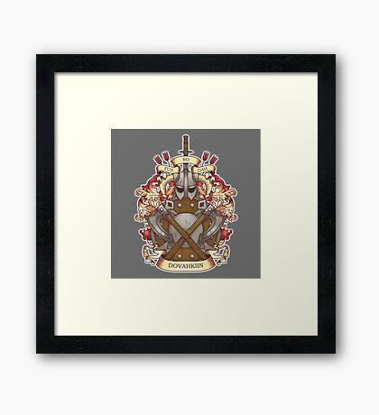 Dovah-crest Framed Print