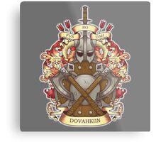 Dovah-crest Metal Print