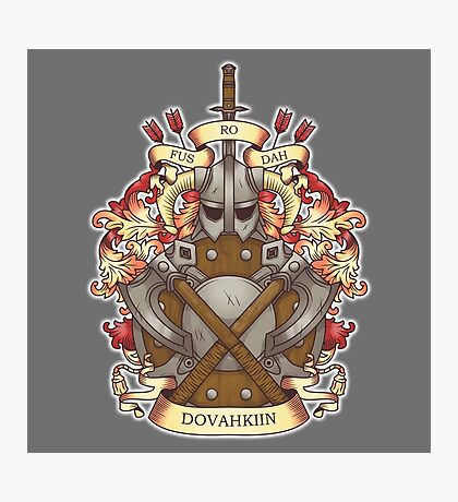 Dovah-crest Photographic Print