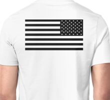 American Flag, ARMY, REVERSE FLAG, Stars & Stripes, US, USA, America, Black on white Unisex T-Shirt