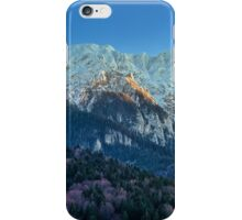 Winter landscape with rocky mountains iPhone Case/Skin