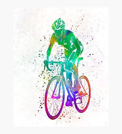 Woman triathlon cycling 05 Photographic Print