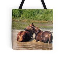 OH, YEAH...A LITTLE TO THE LEFT!... products Tote Bag