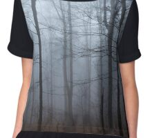 Spooky forest and mist Chiffon Top