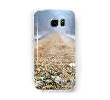 Foggy road in the forest Samsung Galaxy Case/Skin