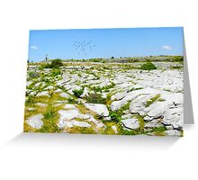 The Burren National Park Co. Clare; Ireland Greeting Card