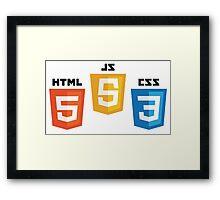 Web Logos Framed Print